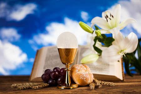 Eucharist, sacrament of communion background Stock Photo - 74097483
