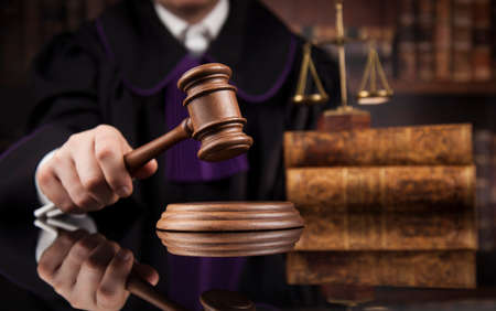 Courtroom mallet of the justice Stockfoto