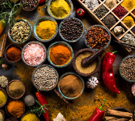 Ingrediente de cozinha, especiarias Foto de archivo - 89827569