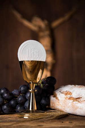 Symbool christendom religie, communie achtergrond