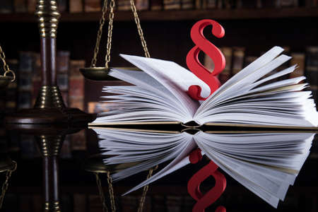 Book, Law, legal code of justice concept Stock Photo