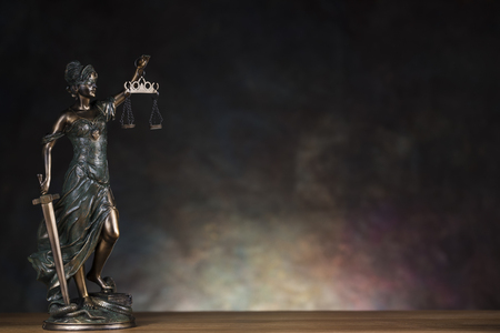 Justice statue, Law and justice concept