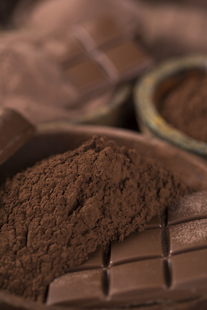 Bars Chocolate , candy sweet, dessert food on natural paper background