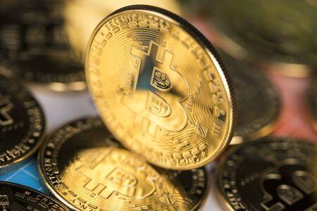 Bitcoin Trading Concept, virtual money Stock Photo