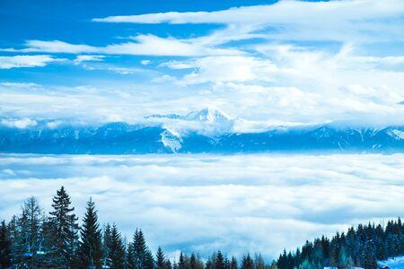 View of beautiful Winter mountain landscape Archivio Fotografico