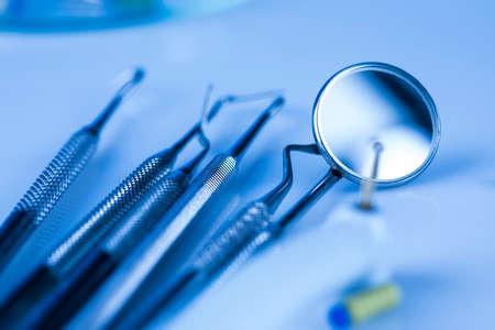 Set of dental instruments, health care