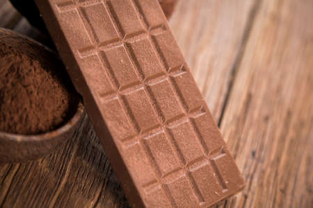 Bars Chocolate, candy sweet, dessert Banque d'images