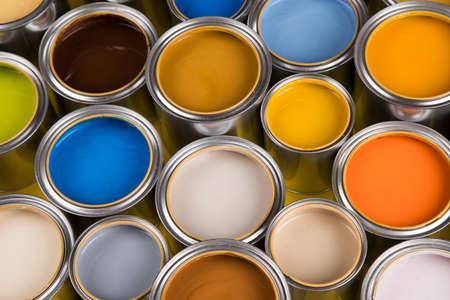 Paint cans palette, Creativity concept Banque d'images