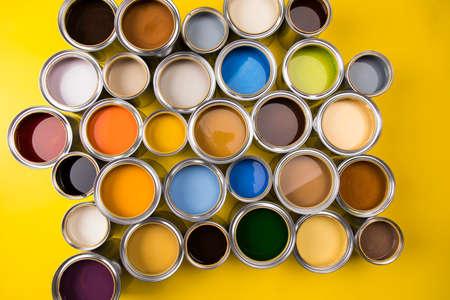 Paint cans color palette and Rainbow colors