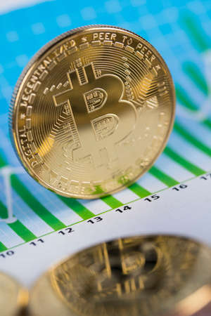 Cryptocurrency concept. Virtual currency background, Bitcoin Banque d'images