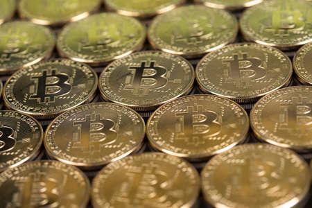 Bitcoin Trading Concept, virtual money Banque d'images