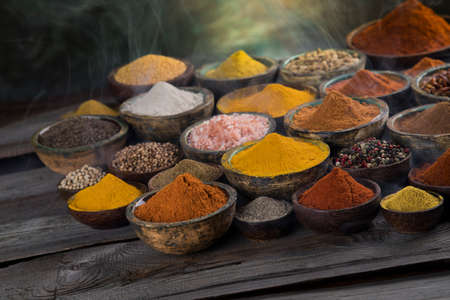 Aromatic spices and Still Life background Banque d'images