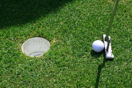 Short putt in a hole photo