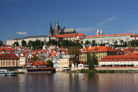 praga: View on the Prague castle, Czech republic
