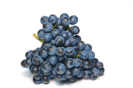 Fresh grape cluster on a white background Stock Photo - 1615189