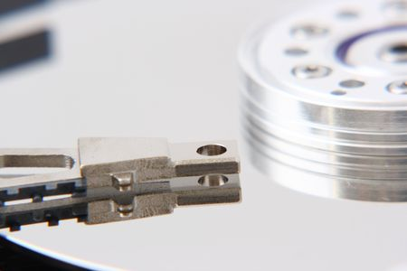 Detail of internals of a harddisk Stock Photo - 1858299
