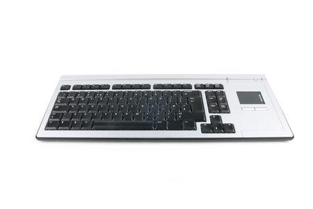 hit tech: black computer keyboard on white background Stock Photo