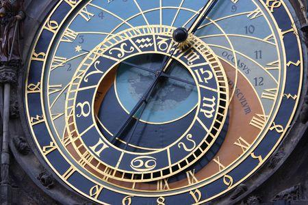 praga: A astronomical clock in Prague, Czech republic in the Old Town Square.
