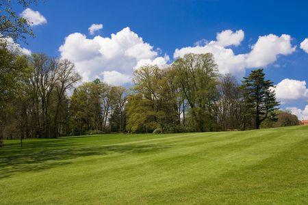 fairway of a golf course Stock Photo