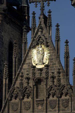tyn: Tyn Cathedral at  Prague, Czech republic Stock Photo