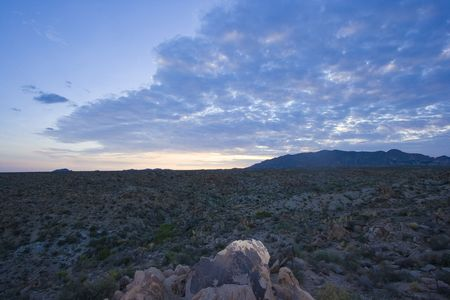 sunrise in Joshua Tree National Park, in the Mojave Desert of Southern California Stock Photo - 3758416