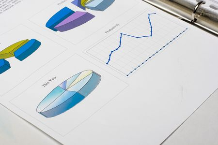 Financial report in a folder Stock Photo - 3843828