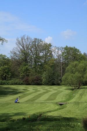golf ball on a beautiful golf course Stock Photo - 7014407