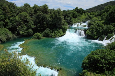 Parc national de Krka, rivi�re Krka, Croatie.