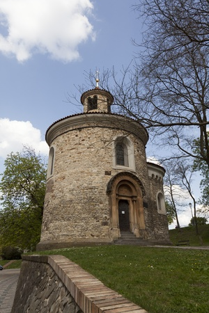 Rotunde church on Vysehrad in Prague (capital city of Czech Republic)  photo