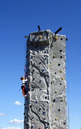 Kid Rock Climbing Banque d'images - 1683944