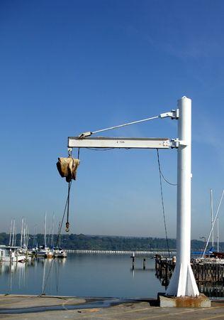 polea: Polea de elevaci�n a Marina  Foto de archivo