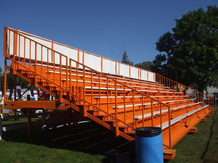 bleachers: Orange Bleachers Stock Photo