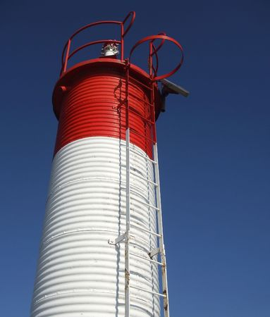 Red and White Light House