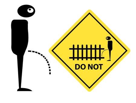 stockade: Do not pee beside fence