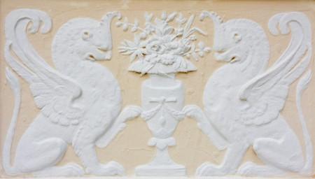 statuary garden: wallpaper beside castle