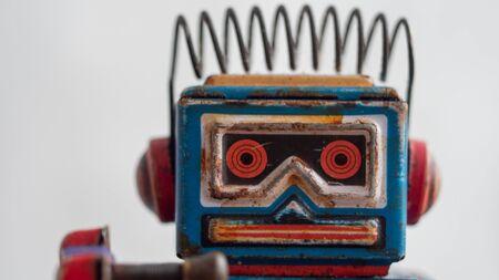 vintage robot toy closeup