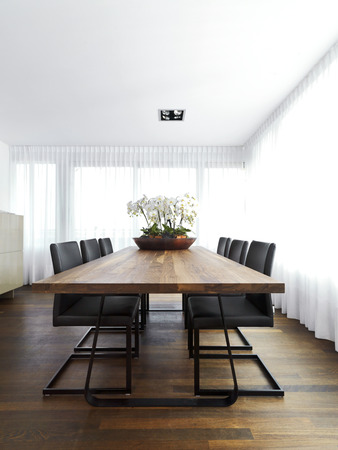white curtains: Meeting room with chairs and white curtains