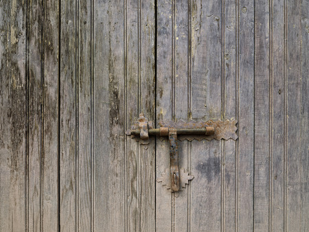 rustiness: Old door lock and rusty latch Stock Photo