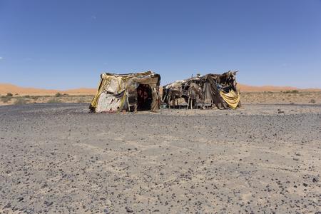 Bedouin tent in the Moroccan desert, Africa
