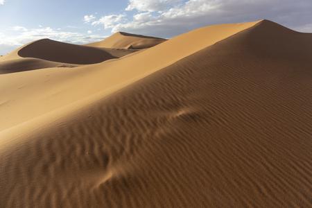 Desert Sand Dunes Lit by beautiful warm morning light Sand Dunes Landscape, Africa
