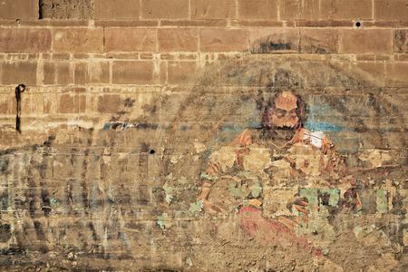 India grafitti in Varanasi, India