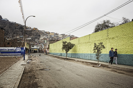 Shanty towns and slums at Rimac, Lima.