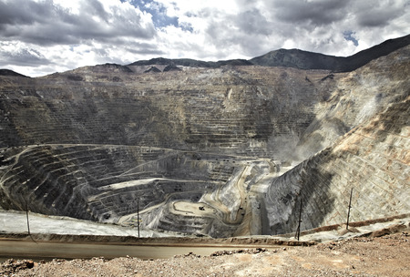 Open pit mine, Utah, United States