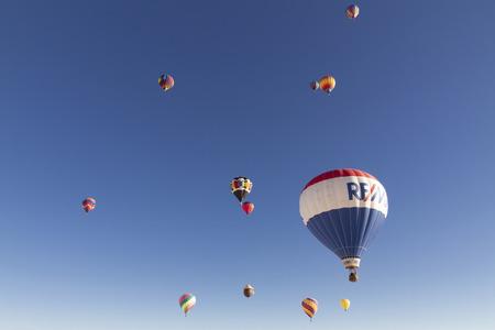 Alamogordo, Balloon Fiesta on a sunny day. White Sands National Monument in Alamogordo, New Mexico USA Stock Photo