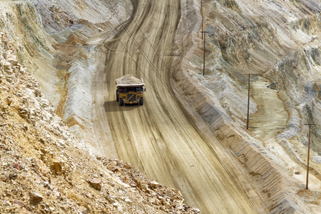 Excavation open pit mine Kennecott, copper, gold and silver mine operation, USA Stock fotó