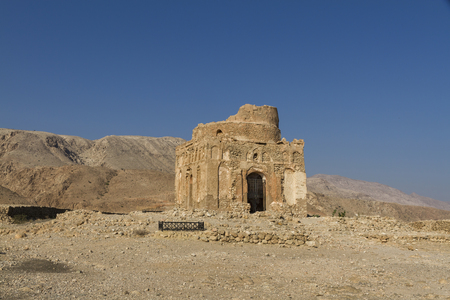 Ruins of the 13th century tomb of Bibi Maryam at Qalhat, near Sur in eastern Oman - Image