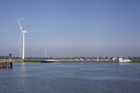 Krammersluizen lake krammer. Drone photograpy from the delta works in Zeeland in the Netherlands