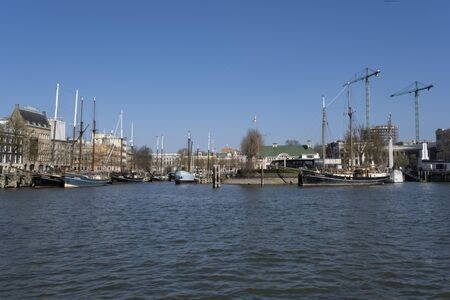 Rotterdam veerhaven, the Netherlands. Its small historic centre has been carefully preserved