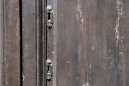 old ornate wooden door with beautiful carvings 免版税图像