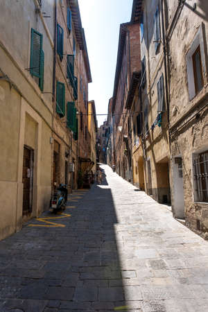 Beautiful small street in provincial Italy.